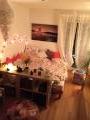 Das Zimmer mit einem großen Doppelbett & toller Aussicht! (tagsüber natürlich)