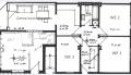 Grundriss, der Raum unten links gehört nicht zur Wohnung.