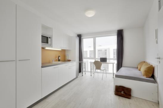 1 zimmer apartment auf dem uni campus bremen voll m bli. Black Bedroom Furniture Sets. Home Design Ideas