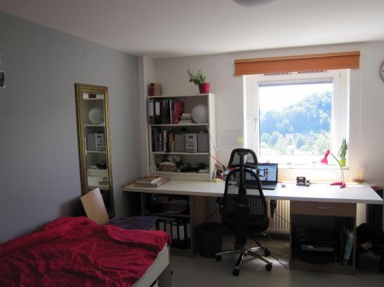 M bliertes zimmer im wohnheim neuhalde mit tollem ausblick for Zimmer tubingen
