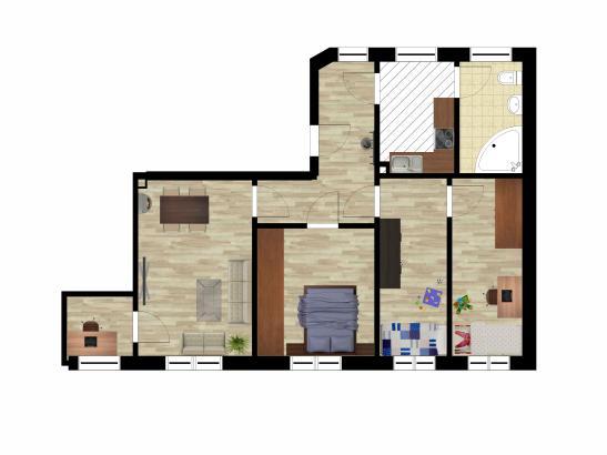 4 helle zimmer im sanierten altbau wohnung in gera. Black Bedroom Furniture Sets. Home Design Ideas