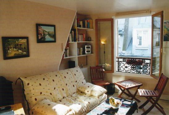 1 zimmer wohnung in paris 2 arrondissement hell. Black Bedroom Furniture Sets. Home Design Ideas