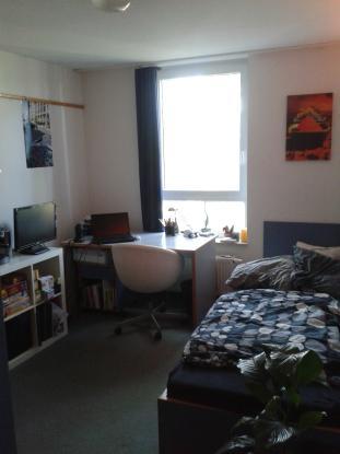 sch ne m blierte 1 zimmer wohnung im studentenwohnheim 1 zimmer wohnung in erlangen erlangen s d. Black Bedroom Furniture Sets. Home Design Ideas