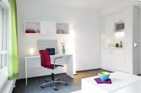 top studentenapartment in frankfurt 1 zimmer apartment. Black Bedroom Furniture Sets. Home Design Ideas