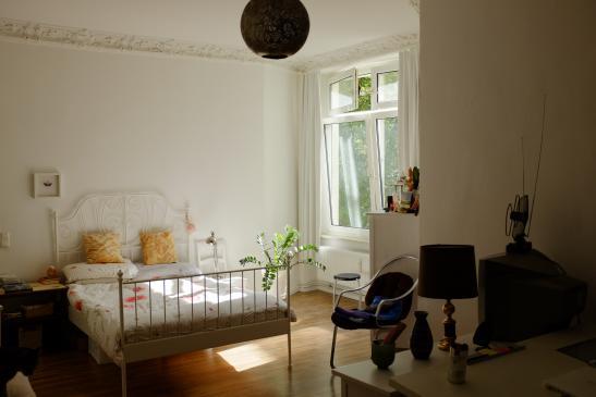 wundersch ne altbauwohnung mit zwei b dern stuck kamin und balkon s dseite wohnung in. Black Bedroom Furniture Sets. Home Design Ideas