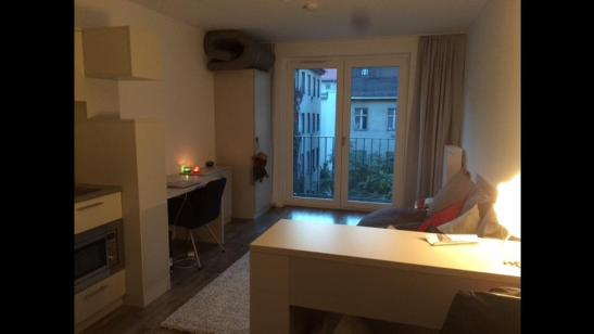 modernes m bliertes 1 zimmer wohnung im wohnheim the fizz. Black Bedroom Furniture Sets. Home Design Ideas