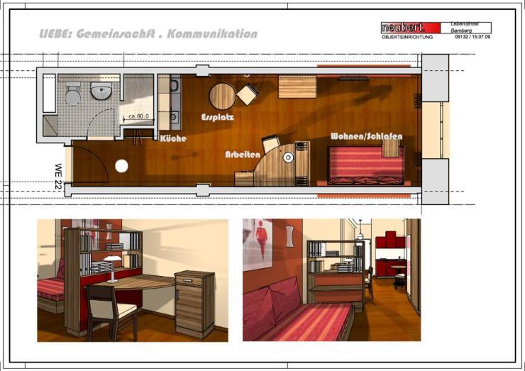 Möbliertes Ein Zimmer Apartment Gegenüber Der Uni (von Privat)