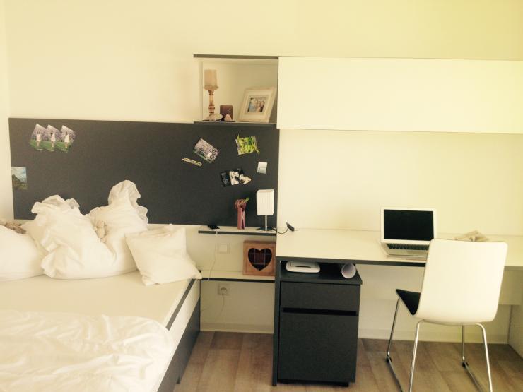 modernes einzel apartment in studentenwohnheim 1 zimmer wohnung in biberach an der ri. Black Bedroom Furniture Sets. Home Design Ideas