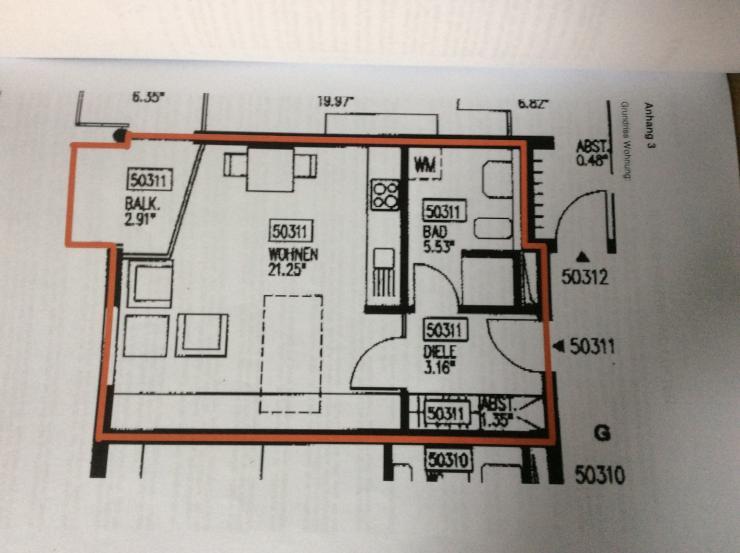 helle g nstige 1 zimmer wohnung mit balkon ideal f r. Black Bedroom Furniture Sets. Home Design Ideas