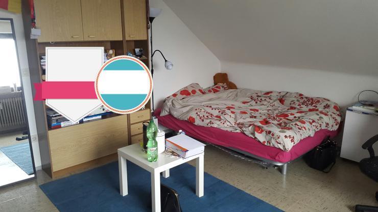 1 zi wohnung mit balkon mit abendsonne 3 og 1 zimmer wohnung in freiburg im breisgau gundelfingen. Black Bedroom Furniture Sets. Home Design Ideas