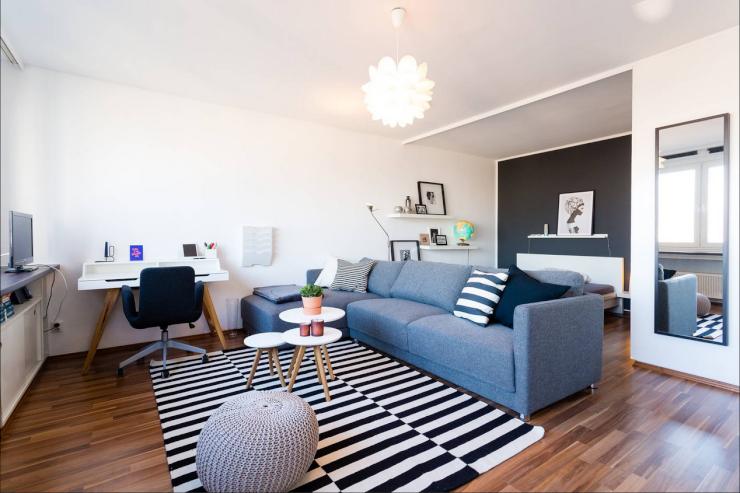 tolle 1 zimmer wohnung mit skyline blick 1 zimmer wohnung in frankfurt am main sachsenhausen. Black Bedroom Furniture Sets. Home Design Ideas