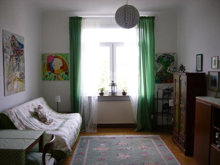 das gr ne zimmer in der langstra e in neckarstadt west ab wohngemeinschaft. Black Bedroom Furniture Sets. Home Design Ideas