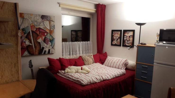 zentrale einzimmerwohnung mit modernem bad und k che studenten 1 zimmer wohnung in osnabr ck. Black Bedroom Furniture Sets. Home Design Ideas