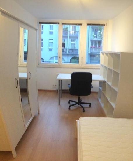 modern m bliertes 12 qm zimmer in netter 3er wg mit gro er wohnk che 2 b dern und balkon. Black Bedroom Furniture Sets. Home Design Ideas