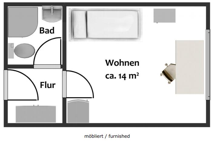 studentenwohnung suche zwischenmieter 1 zimmer wohnung in magdeburg alte neustadt. Black Bedroom Furniture Sets. Home Design Ideas
