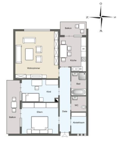 erstbezug n kernsanierung 90 qm 3 zkb 2 balkone 2 b der nebenraum n he neuenheimer. Black Bedroom Furniture Sets. Home Design Ideas