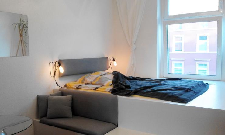 komplett m blierte zwei raum wohnung in d sseldorf oberbilk 1 zimmer wohnung in d sseldorf. Black Bedroom Furniture Sets. Home Design Ideas