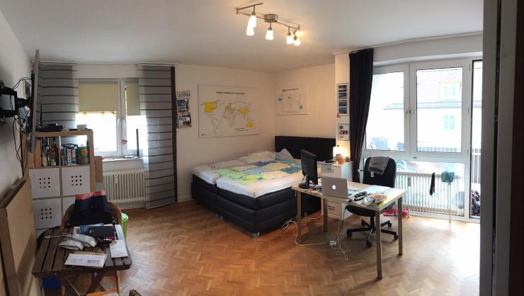 zwischenmiete 4er wg in bogenhausen mit gem tlichem balkon wgs m nchen bogenhausen. Black Bedroom Furniture Sets. Home Design Ideas