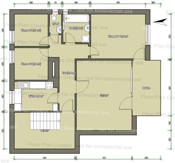 Wohnungsplan Lesen 2 helle 7 m zimmer mit zugang zu balkon wohngemeinschaften in darmstadt darmstadt