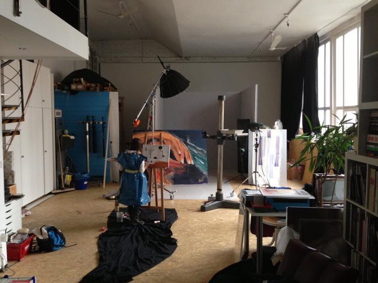 sch nes atelier loft im stuttgarter heusteigviertel wohnung in stuttgart s d. Black Bedroom Furniture Sets. Home Design Ideas