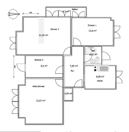 gem tliches 13 qm zimmer mit balkon mit haushaltshilfe 1x. Black Bedroom Furniture Sets. Home Design Ideas