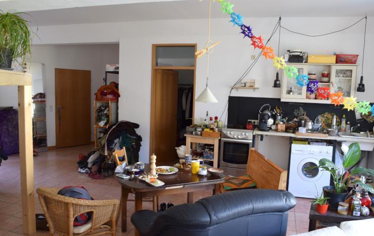 60 qm mini loft im unionsviertel 1 zimmer wohnung in dortmund mitte. Black Bedroom Furniture Sets. Home Design Ideas