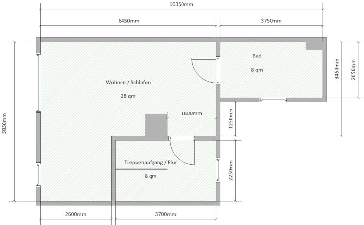 1 zimmer wohnung im og eines 2 familien hauses 1 zimmer wohnung in bernburg saale waldau. Black Bedroom Furniture Sets. Home Design Ideas