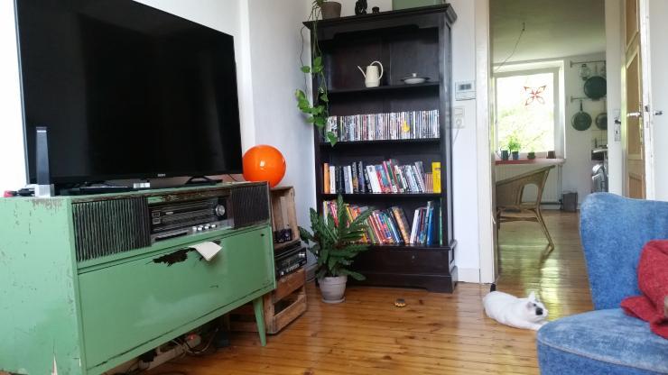 17 qm in 87qm wohnung mit wohnzimmer wohnk che und sonnendach in 2 er wg n he hafen und hbf. Black Bedroom Furniture Sets. Home Design Ideas