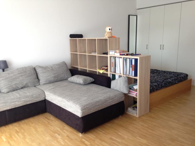 sch ne ger umige ein zimmer wohnung im neubau 1 zimmer wohnung in frankfurt am main gallus. Black Bedroom Furniture Sets. Home Design Ideas