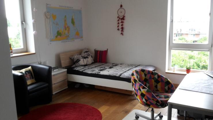 19m m beliertes wg zimmer in traumwohnung mit balkon und h ngematte zur zwischenmiete. Black Bedroom Furniture Sets. Home Design Ideas