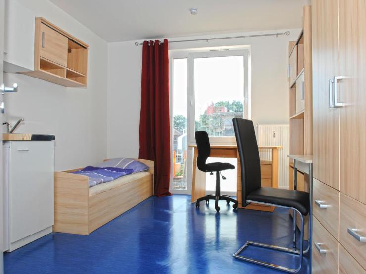 apartment mit eigenem bad und pantryk che im studentenwohnheim boarding house in unin he 1. Black Bedroom Furniture Sets. Home Design Ideas