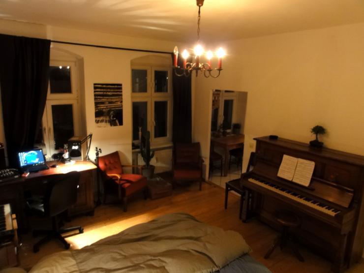 gem tliche ein zimmer wohnung 1 zimmer wohnung in berlin friedrichshain. Black Bedroom Furniture Sets. Home Design Ideas