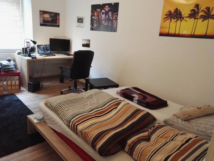 m biliertes zimmer zur untermiete in studentenwg innenstadt wg zimmer in augsburg innenstadt. Black Bedroom Furniture Sets. Home Design Ideas