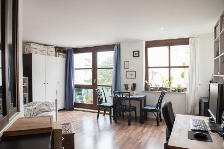 m blierte ruhige zentrale und helle 1 5 zimmer wohnung 1 zimmer wohnung in m nchen maxvorstadt. Black Bedroom Furniture Sets. Home Design Ideas