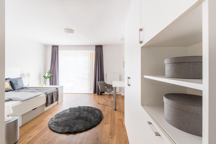 m bliertes appartement im studentenwohnheim chic7 1. Black Bedroom Furniture Sets. Home Design Ideas