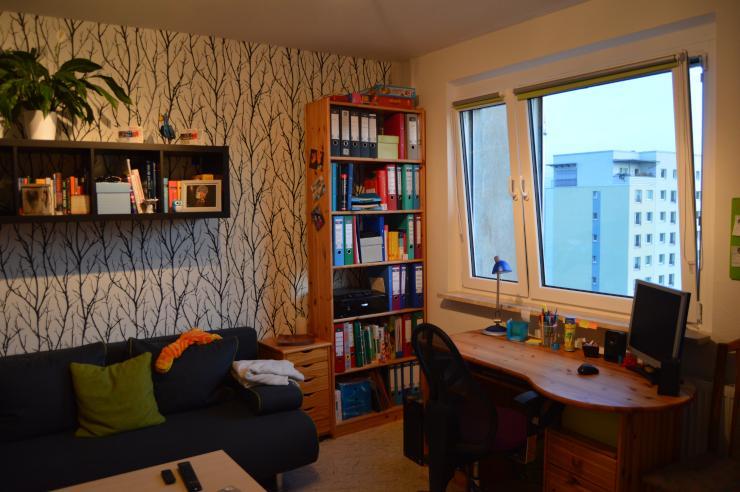 lichtdurchflutete 1 raum wohnung zur zwischenmiete 1. Black Bedroom Furniture Sets. Home Design Ideas