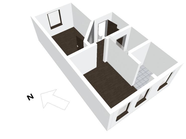 g nstige helle und ger umige 2 raum wohnung mit blick ins. Black Bedroom Furniture Sets. Home Design Ideas