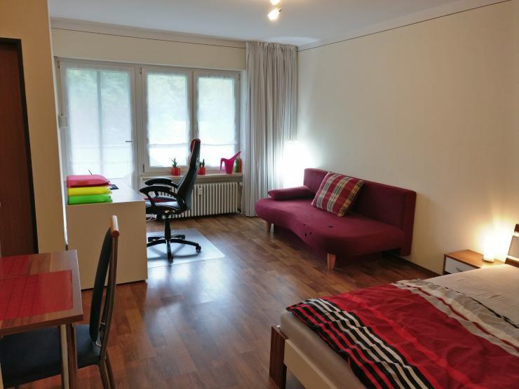 sch ne modern eingerichtete 1 zimmer wohnung mit separater k che und bad 1 zimmer wohnung in. Black Bedroom Furniture Sets. Home Design Ideas