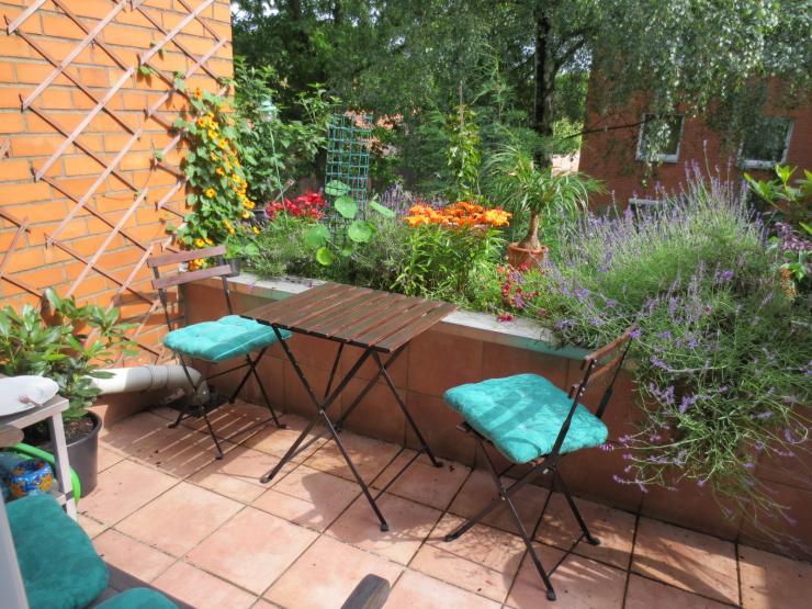 1 zimmer terrassenwohnung in bevorzugter wohnlage am. Black Bedroom Furniture Sets. Home Design Ideas