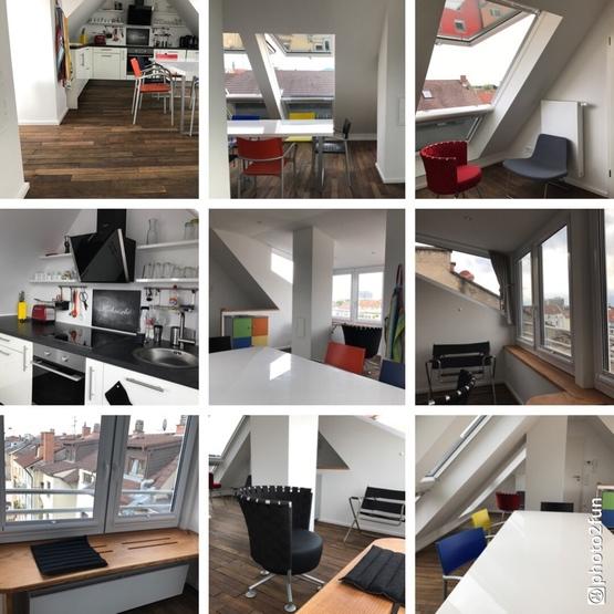 hochwertige sanierte 5 zi dachgeschoss whg wg geeignet. Black Bedroom Furniture Sets. Home Design Ideas
