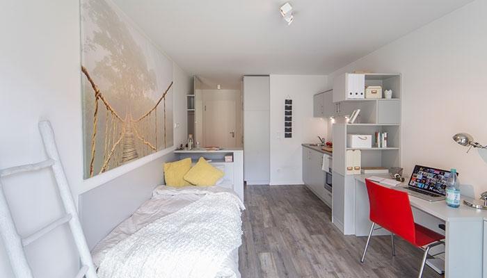 studentenwohnheim the fizz berlin single sudio standard. Black Bedroom Furniture Sets. Home Design Ideas