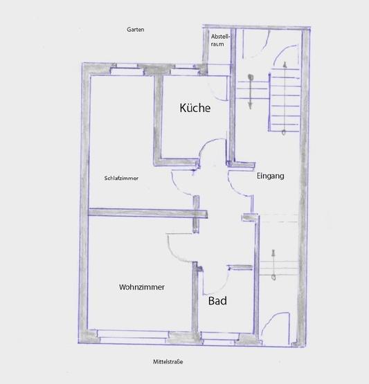 Gemtliche 2 Zimmer Wohnung In Der Mittelstrasse