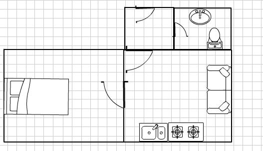 loft studio in innerstadt west 1 zimmer wohnung in dortmund mitte. Black Bedroom Furniture Sets. Home Design Ideas