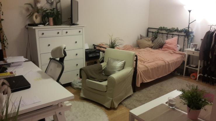 g nstige 1 raum wohnung mit k che 1 zimmer wohnung in dresden seidnitz. Black Bedroom Furniture Sets. Home Design Ideas