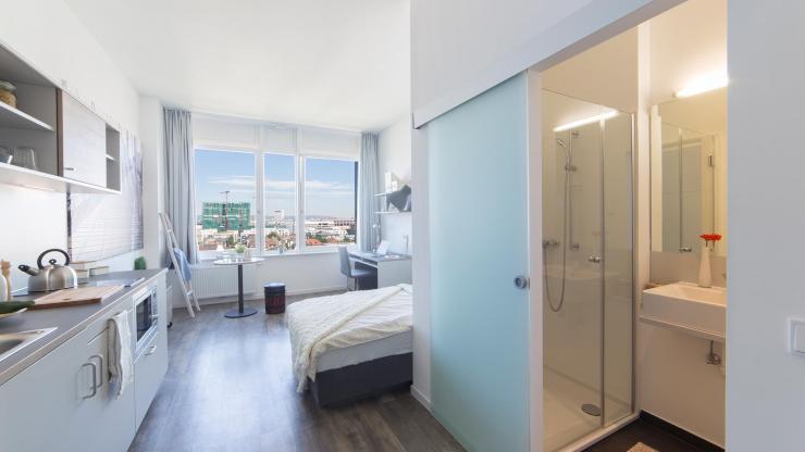 modern m bliertes 1 zimmer apartment in frankfurt gallus 1 zimmer wohnung in frankfurt am main. Black Bedroom Furniture Sets. Home Design Ideas