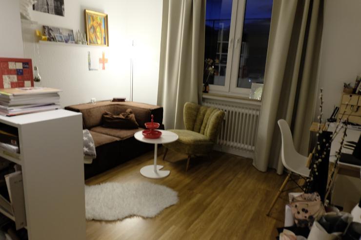 gem tliches zentrales zimmer zur zwischenmiete m bliertes wg zimmer d sseldorf friedrichstadt. Black Bedroom Furniture Sets. Home Design Ideas