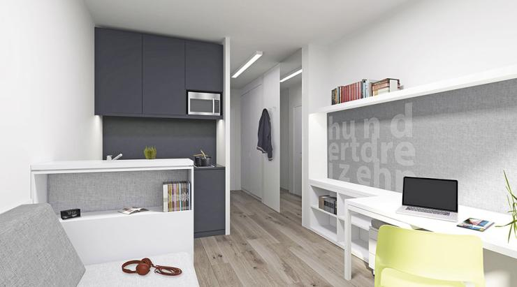 student apartment in residential home 1 zimmer wohnung in berlin wedding. Black Bedroom Furniture Sets. Home Design Ideas
