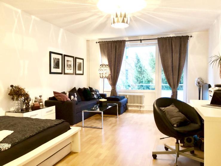 1 zimmer wohnung mit balkon m bliert 1 zimmer wohnung in hamburg hoheluft west. Black Bedroom Furniture Sets. Home Design Ideas