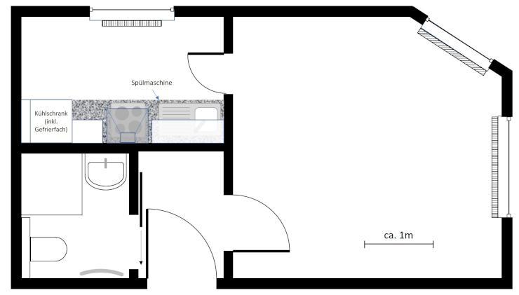 1 zimmer einliegerwohnung in wannweil ideal zwischen. Black Bedroom Furniture Sets. Home Design Ideas