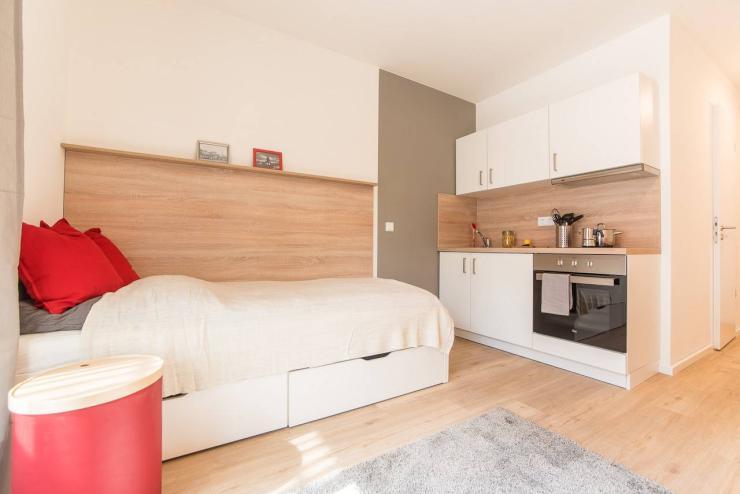 Komplett Möbliertes Renoviertes Apartment Mit Küche Und Bad
